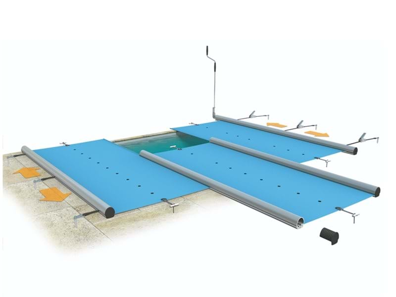 design of how manual safety pool cover works.