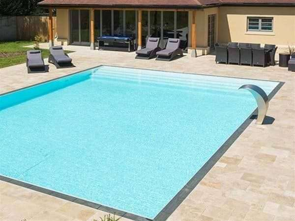 Overflow Multi one piece swimming pool.