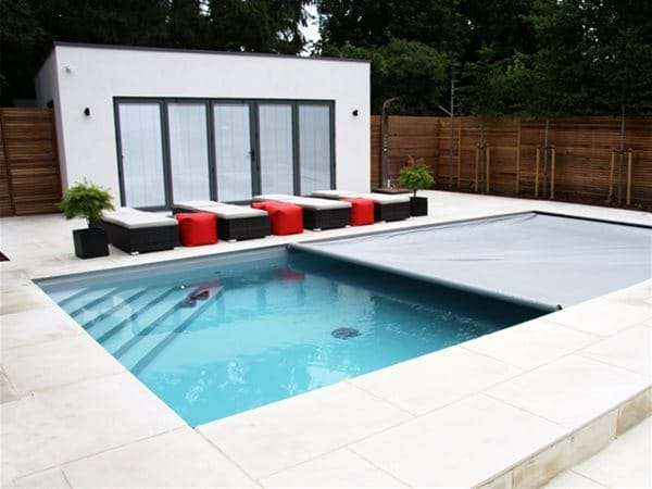 Coverstar automatic pool cover installed for Peterson.